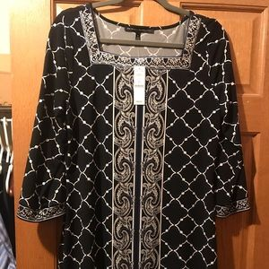 WHBM 3/4 sleeve Tunic top
